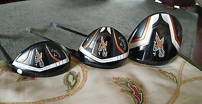 Callaway X2 Hot Driver, 3 wood and Rescue
