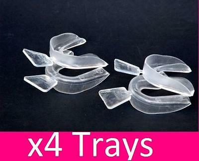 4 x Teeth Whitening Mouth Trays Whitening Bleaching Gum Shield Grinding Tray