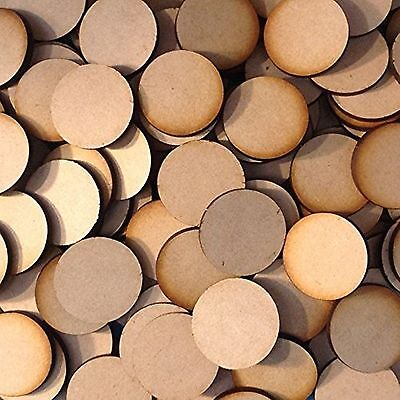 MDF Wooden Disk Circle Shapes 3mmThick Round Wood Base 10mm to 75mm Diameter