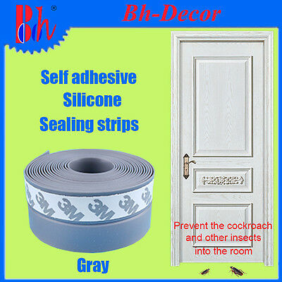 Silicone Weather Stripping Self Adhesive Door Edge Bottom Seals Sealing Strips
