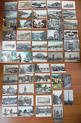 lot 51 cartes postales anciennes ROYAUME-UNI United Kingdom old postcard