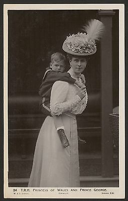 British Royalty. The Princess of Wales Giving Prince George a Piggy Back! RPPC