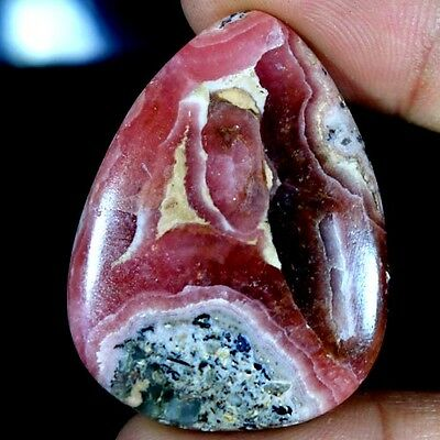 68.30Cts. 100% NATURAL DESIGNER RHODOCHROSITE PEAR CABOCHON QUALITY AA GEMSTONES