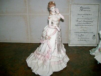 """Royal Worcester figurine """"THE JEWEL IN THE CROWN"""" L/Ed - """"MINT"""""""