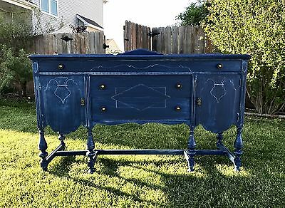 Antique Blue jeans Buffet