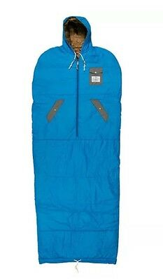 Poler Napsack Wearable Sleeping Bag Small Daphne Blue Festivals Camping  BNIB