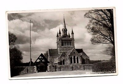 Isle of Wight - Whippingham, St. Mildred's Church - Vintage Real Photo Postcard