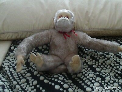 VINTAGE SCHUCO 12 INCH  BEAR WITH plastic EYES