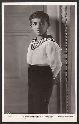 Russian Royalty. Czarevitch of Russia. Vintage Rotary Photo Postcard
