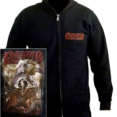 Kreator Gods Of Violence Zip Hoodie M L XL Officil Black Hooded Sweatshirt Hoody