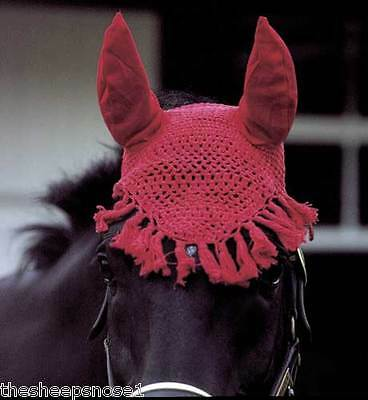 Rhinegold Cotton Fly Veil / Fringe With Ears Show Jumping Lots Of Colours