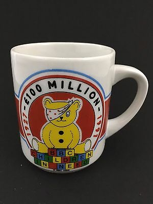 PUDSEY 1991 BBC Children in Need  Tea Cup / Coffee Mug Collectible