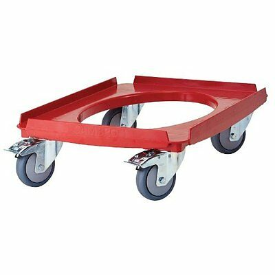 Cambro CD3253EPP158 Cam Dolly for Cam GoBoxes 550 lb. Load Capacity, Hot Red
