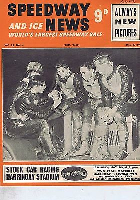 RONNIE MOORE / TICH READ IPSWICH	Speedway News 	May	4	1955