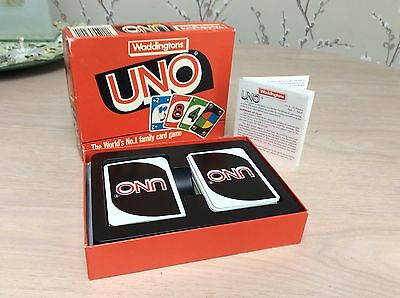 Vintage Uno Game by Waddingtons - Classic Family Card Game - Complete 1989