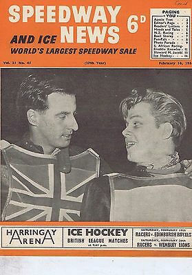 TOMMY PRICE WEMBLEY	Speedway News 	Feb	16	1955