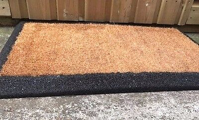 Heavy duty rubber crumb based non slip coir mat, for outdoor or indoor use