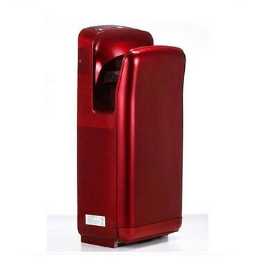 New Red Wall Mounted Automatic Induction Double Jet Blade Hand Dryer Machine