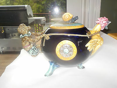 Royal Doulton Minton Monkey Rooster Teapot Majolica Numbered Limited Edition