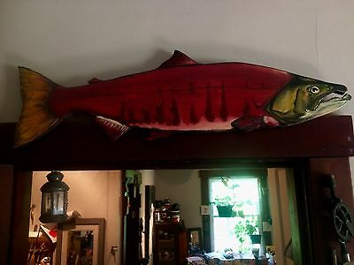Sockeye Salmon Chainsaw Fish Carving