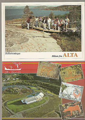 Norway postcards, Alta postcards, modern 1990s?