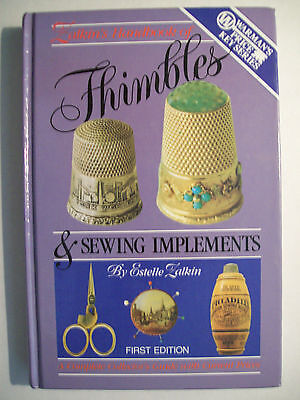 VINTAGE THIMBLES PRICE GUIDE BOOK Pin Cushions Sewing BOX CASES Scissors Darners