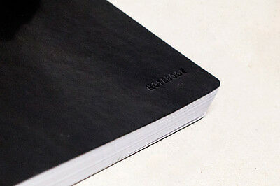 200 Page Quality Notebook on a Faux Leather cover. Soft Flexible 'Moleskin' Feel