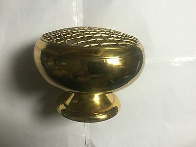 Vintage brass incense holder / burner