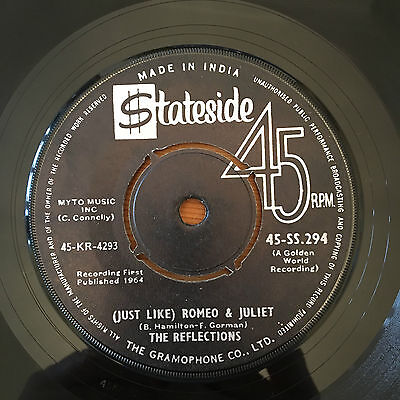 The Reflections '(Just Like) Romeo And Juliet' Indian  Northern Soul Rare 60's