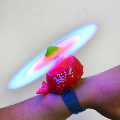Whale Windmill Bracelet Cartoon Music Lighting Wristband Kids Puzzle Toys