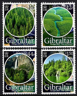 Gibraltar 2011 Europa Year of Forests SG 1398 - 1401 Unmounted Mint
