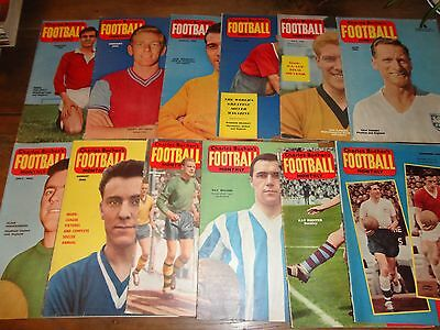 vintage football magazine CHARLES BUCHAN'S FOOTBALL monthly 12 issues set 1960
