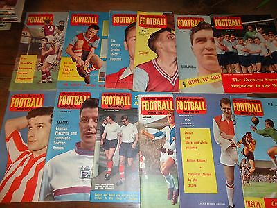 vintage football magazine CHARLES BUCHAN'S FOOTBALL monthly 12 issues set 1961