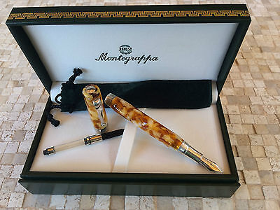 NEW Montegrappa Harmony Fountain Pen Marbled  / Pluma Estilografica