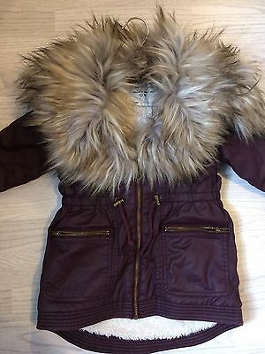 Girls Matalan Coat Age 3 Years Excellent Condition