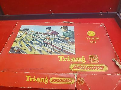 VINTAGE 60's TRIANG RAILWAYS ELECTRIC TRAIN SET RS13 AMERICAN TRANSCONTINENTAL