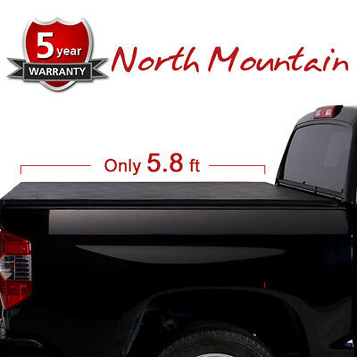 5.8' Soft Tri-Fold Tonneau Cover For 07-13 Silverado/Sierra 1500 Fleetside Bed