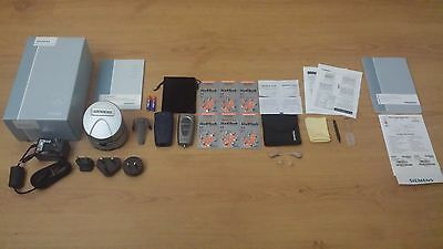2 x New SIEMENS PURE CARAT 501 Hearing Aids+PROPOCKET+eCHARGER. FREE PROGRAMMING