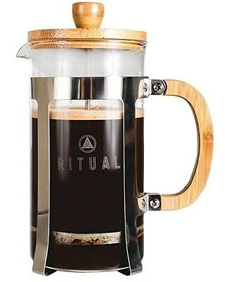 French Press by Ritual, Improved Stainless Steel and Bamboo Design 9 cup Coffee