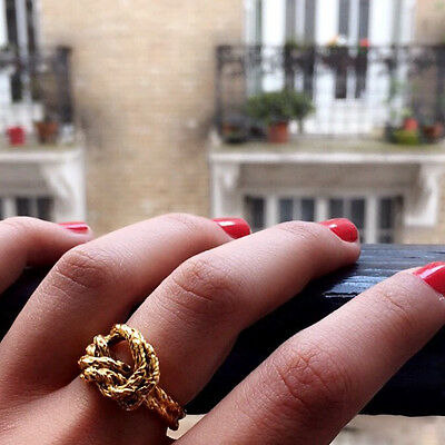 AURELIE BIDERMANN Paris Bague LASSO NOEUD or Jaune Gold Ring T 54 BNWT NEUVE