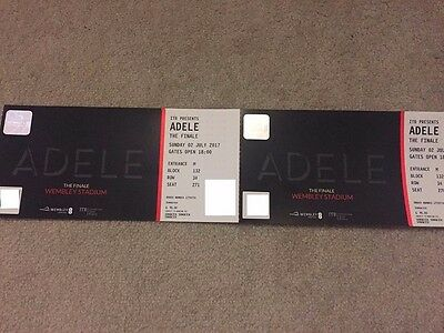 ADELE FINALE WEMBLEY TICKETS x 2, SUNDAY 2nd JULY