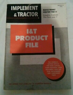 Implement & Tractor Product File Catalog Parts Advertisement March 24 1956
