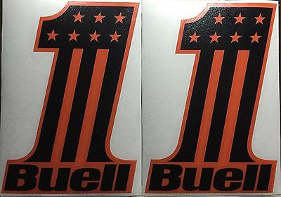 Buell Number One Vinyl Decals (2). One pair. Or Choose Your Color