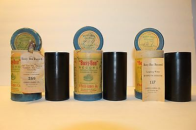 3 Busy Bee Cylinders - Iv'e Got Fingers Crossed, Andrew Jackson & Laughing Water