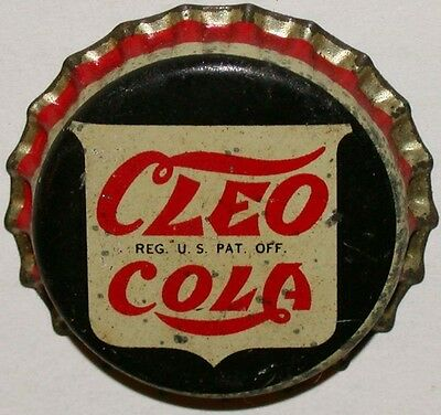 Vintage soda pop bottle cap CLEO COLA cork lined unused new old stock condition