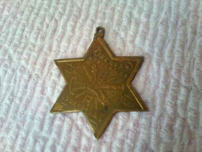 Old Antique 1896 Ny Firemans Convention Medal Souvenir