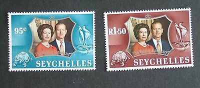 Seychelles 1972 Royal 25th Silver Wedding Anniversary MNH UM