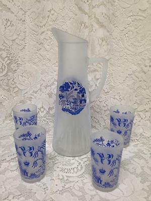 Vintage, Blue Willow 5-pc Set, Water,  Juice or Iced Tea Set