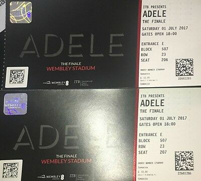 2 tickets Adele Concert Wembley 1th July