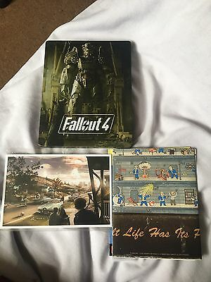 Fallout 4 Steelbook Postcards & Poster NO GAME Bethesda